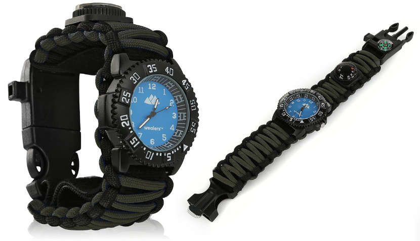 Wealers Tactical Survival Watch Multifunctional 6 in 1 Extreme Expedition Watch