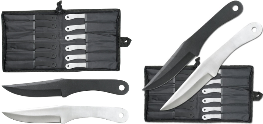 Perfect Point PAK-712-12 Throwing Knife Set