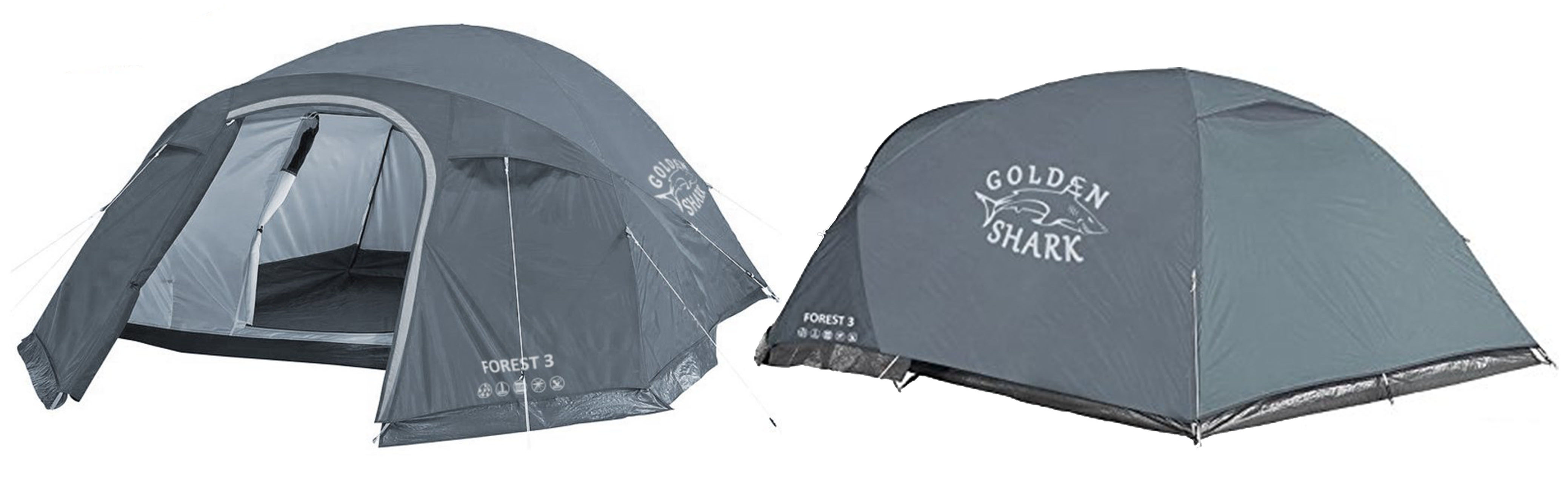 GoldenShark 3 Person Tent