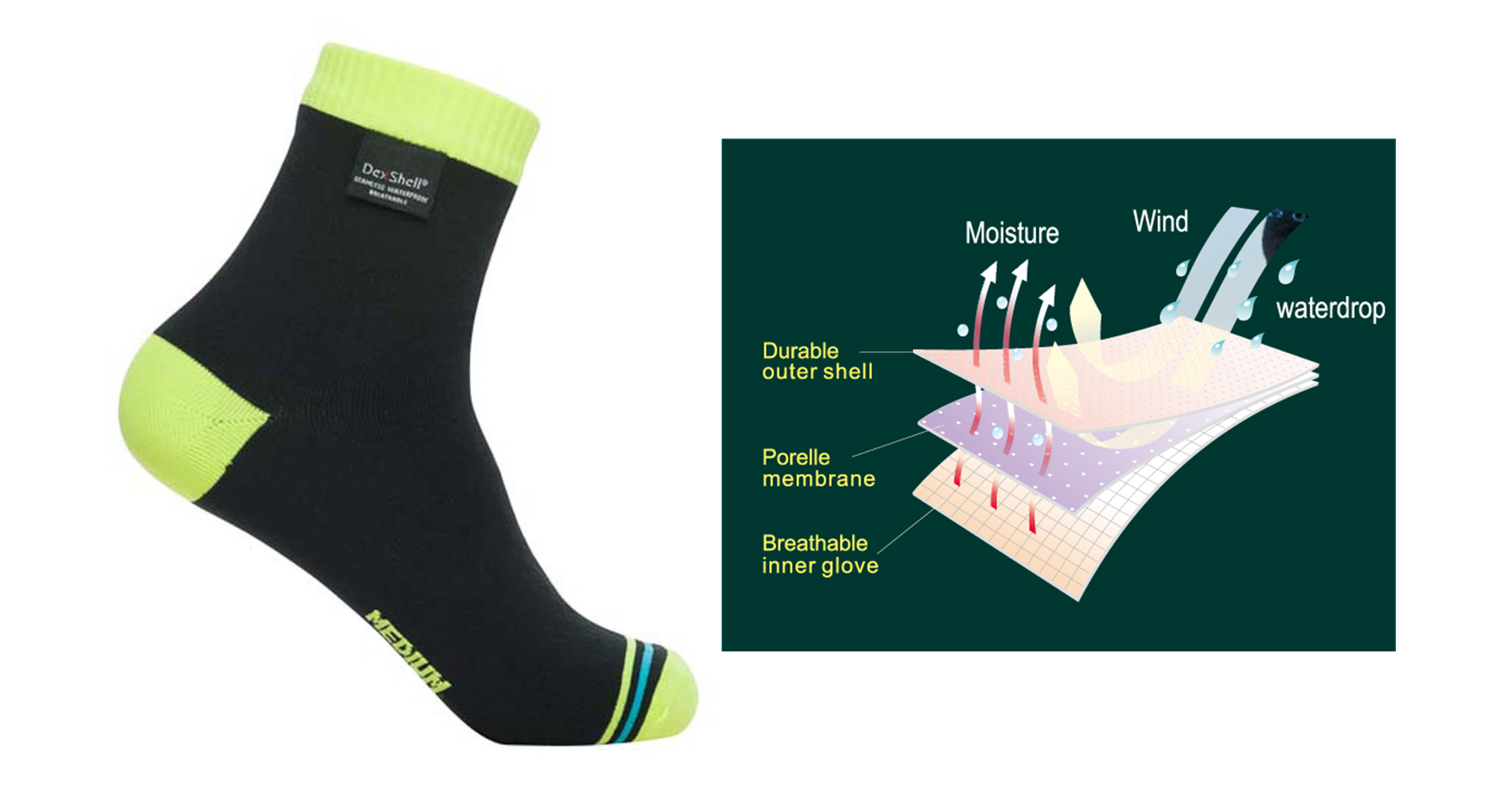 Dexshell Ultralite Biking Waterproof Socks