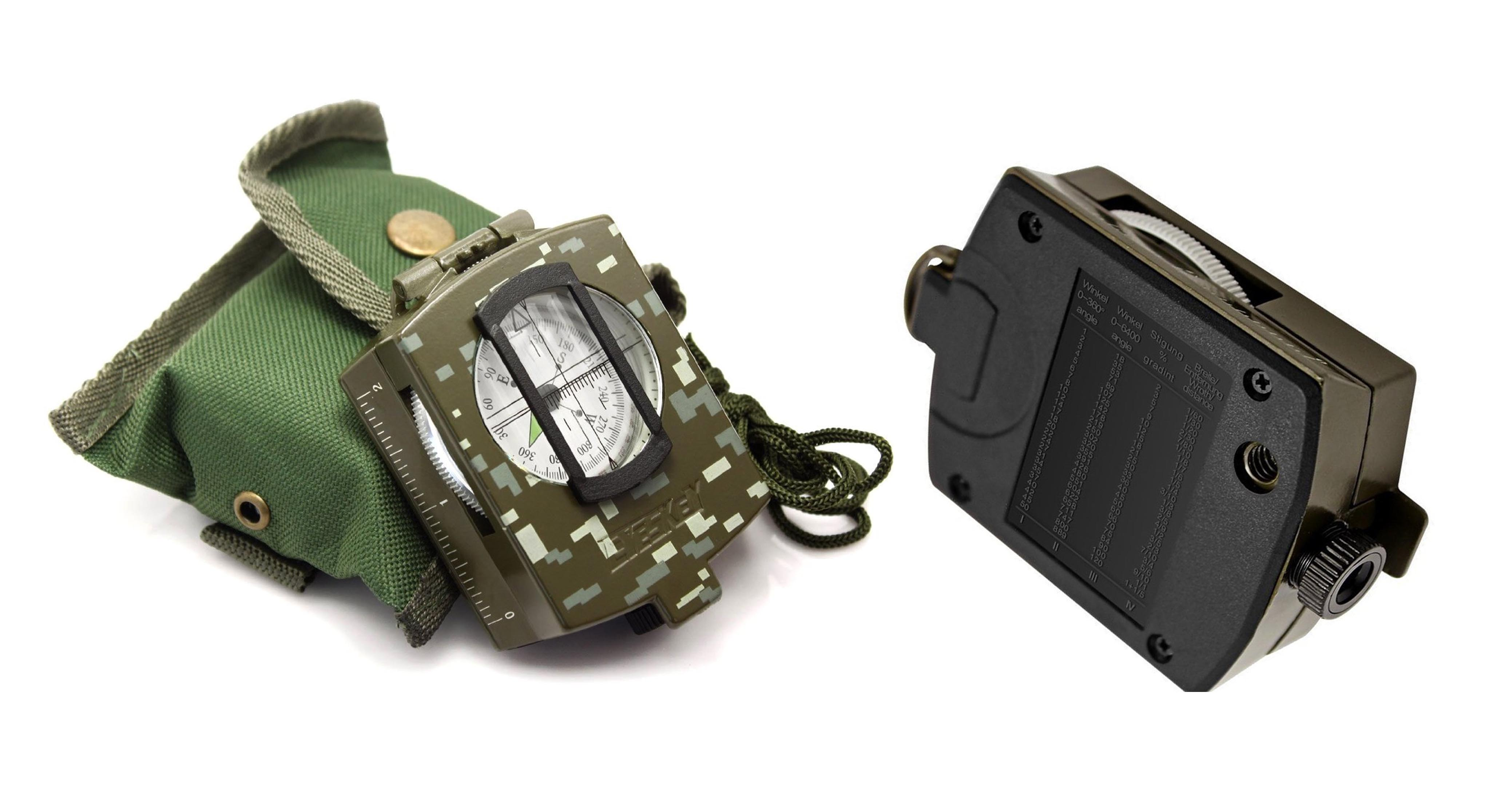 Eyeskey Multifunctional Military Army Aluminum Alloy Compass