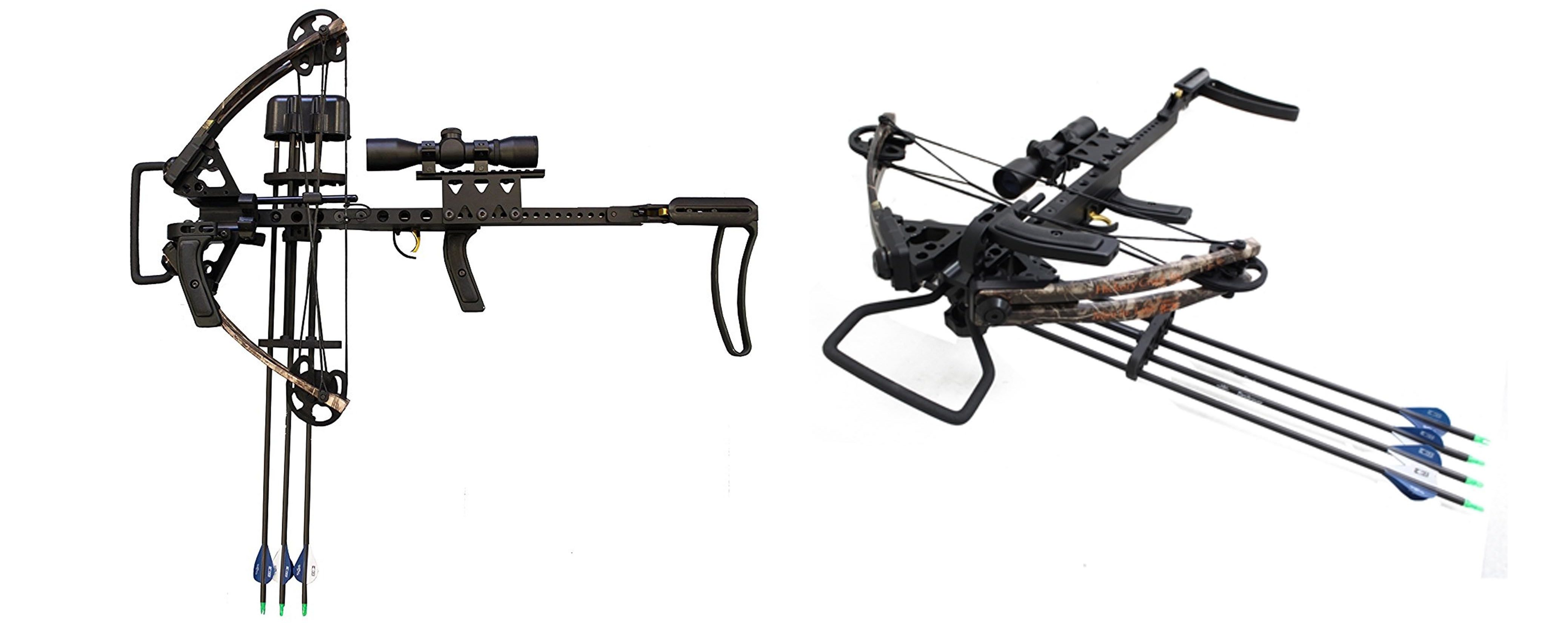 Hickory Creek 150 lbs In-Line Mini Vertical Crossbow with Split Limb