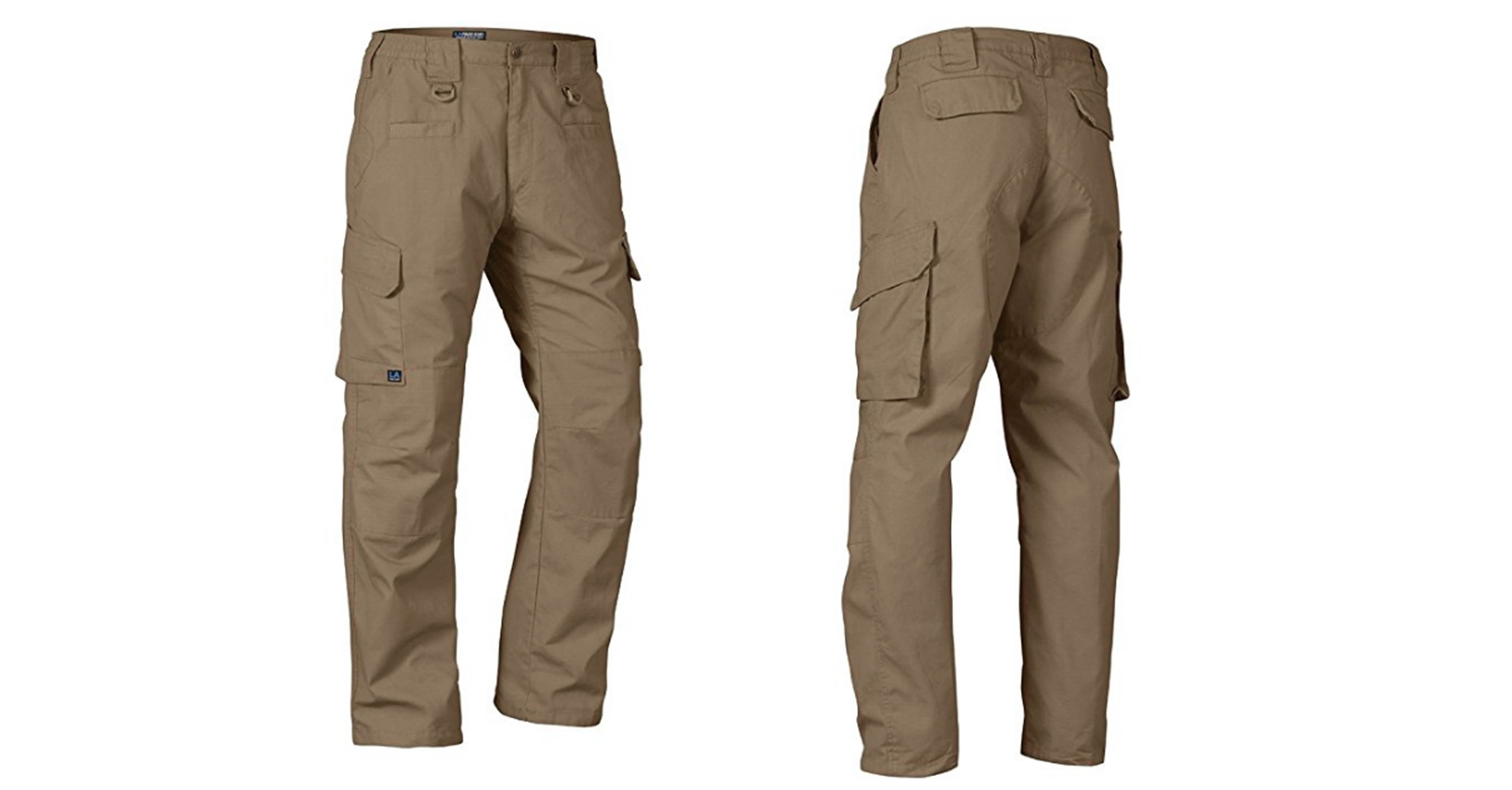 LA Police Gear Operator Tactical Pants with Elastic Waistband