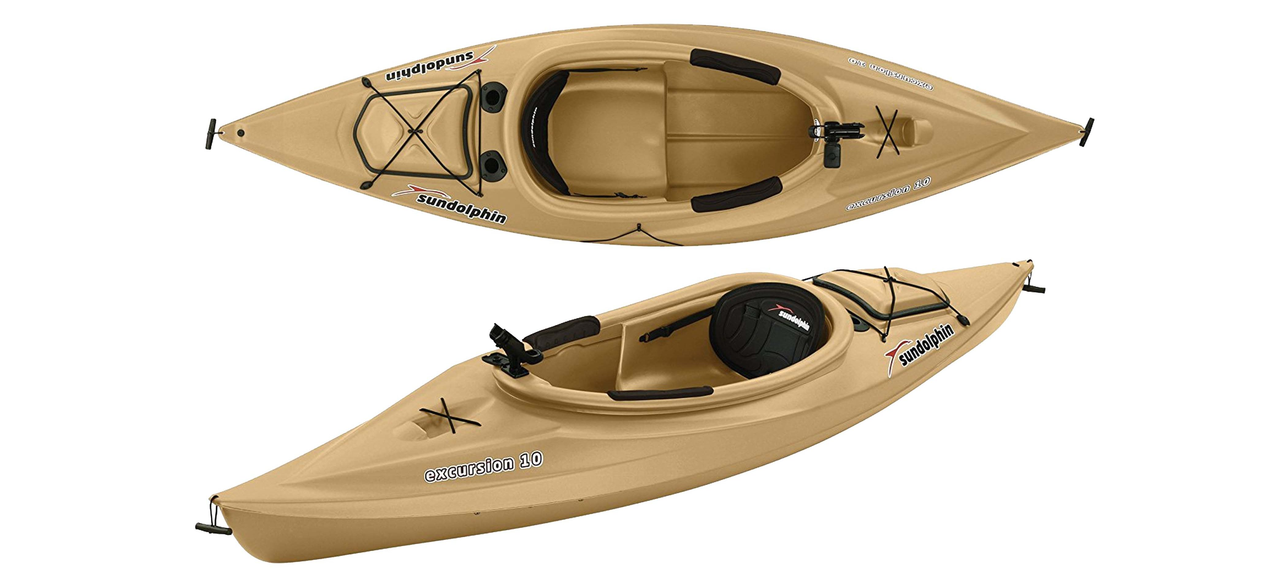 Sun Dolphin Excursion Fishing 10-Foot Sit-in Fishing Kayak