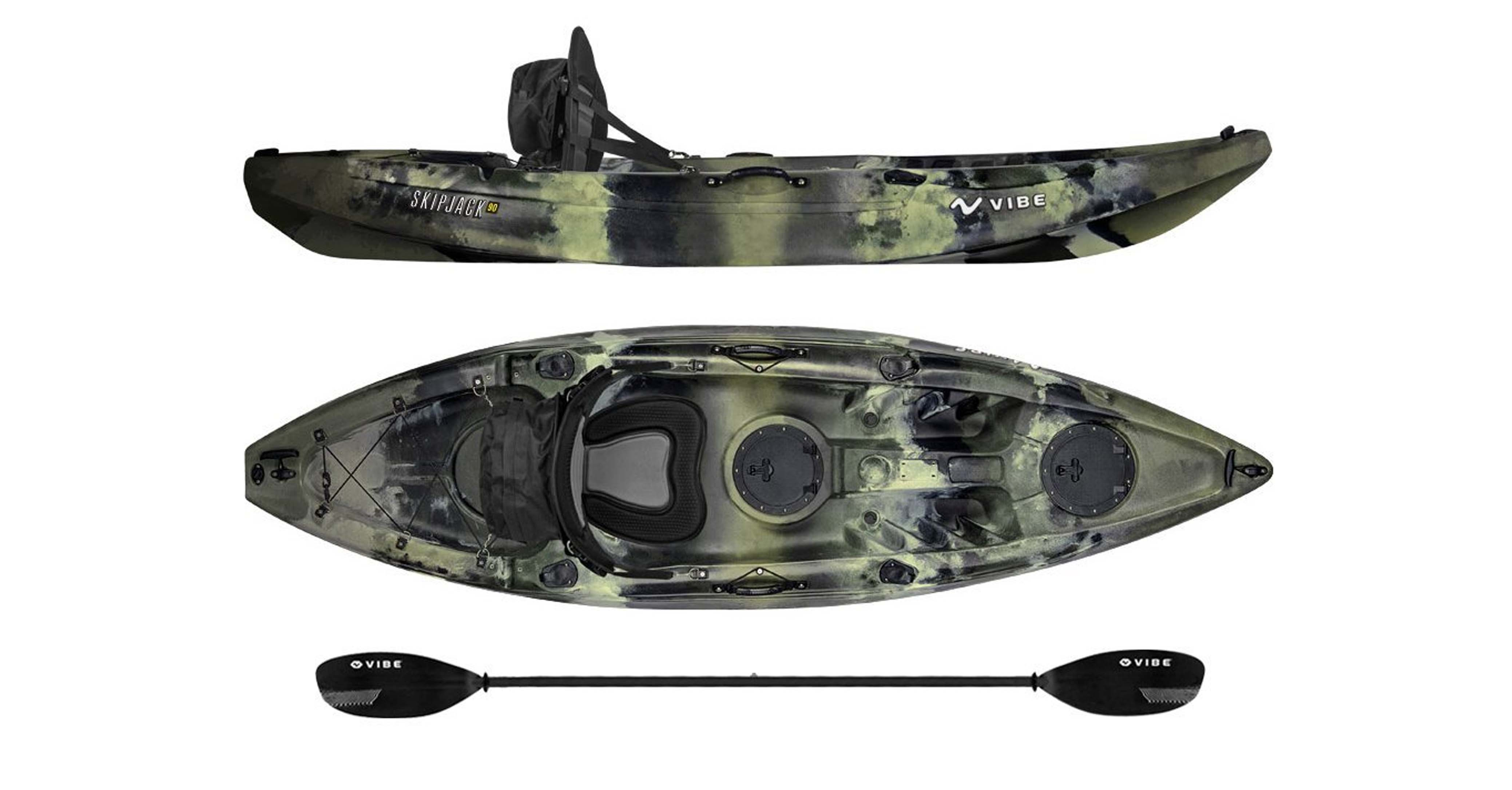 Vibe Kayaks Skipjack 90 9-foot Angler Sit on Top Fishing Kayak